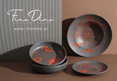 Porcelana bloom czarna nowoczesna fine dine earth colours